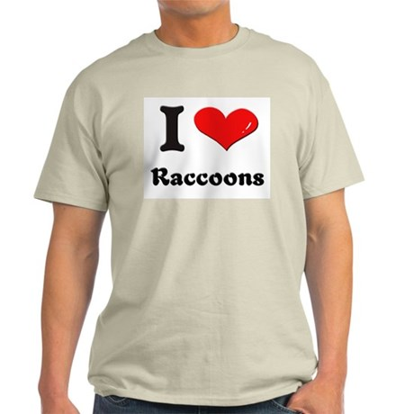 I love raccoons Light T-Shirt