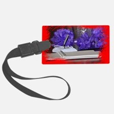 Wedding Guest Book close up with Luggage Tag