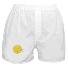 Sleepy Face Emoticon Boxer Shorts
