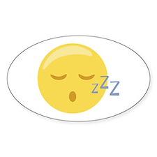 Sleepy Face Emoticon Decal