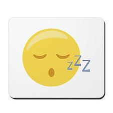 Sleepy Face Emoticon Mousepad