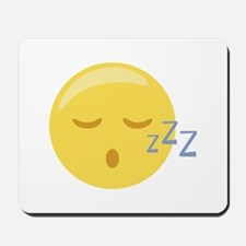 Sleepy Face Emoticon Mousepad