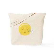 Sleepy Face Emoticon Tote Bag