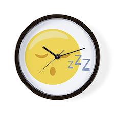 Sleepy Face Emoticon Wall Clock