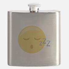 Sleepy Face Emoticon Flask