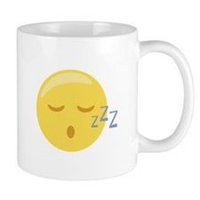 Sleepy Face Emoticon Mugs