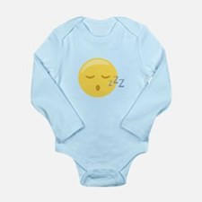 Sleepy Face Emoticon Body Suit
