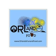 Orlando Fun and Food Logo Sticker