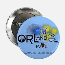 """Orlando Fun and Food Logo 2.25"""" Button"""