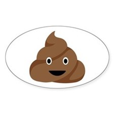 Poop Emoticon Decal