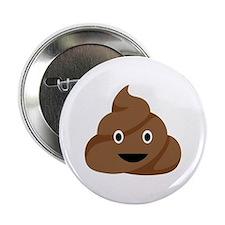 """Poop Emoticon 2.25"""" Button"""