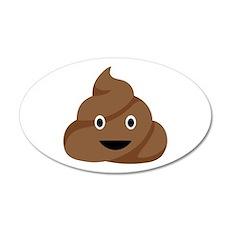 Poop Emoticon Wall Decal