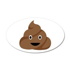 Poop Emoticon Wall Decal