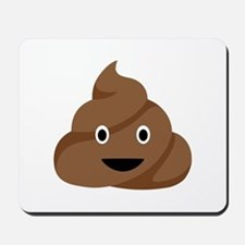 Poop Emoticon Mousepad