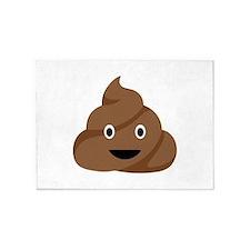 Poop Emoticon 5'x7'Area Rug