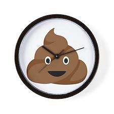 Poop Emoticon Wall Clock