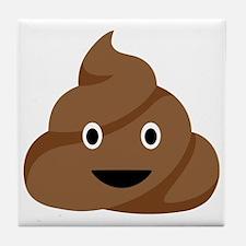 Poop Emoticon Tile Coaster