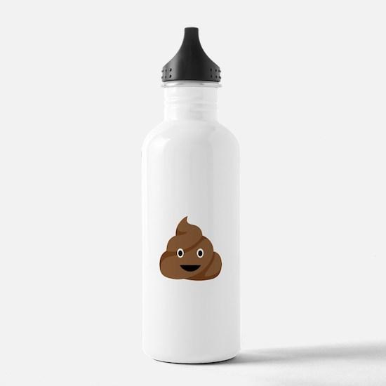 Poop Emoticon Water Bottle