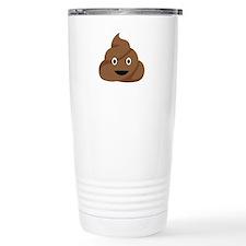 Poop Emoticon Travel Mug