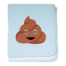 Poop Emoticon baby blanket