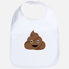 Poop Emoticon Bib