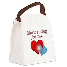 eating2boy Canvas Lunch Bag