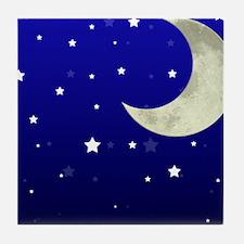 Moon and Stars Tile Coaster