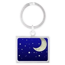 Moon and Stars Landscape Keychain
