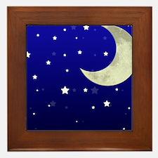 Moon and Stars Framed Tile