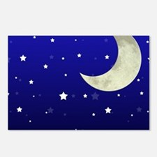 Moon and Stars Postcards (Package of 8)