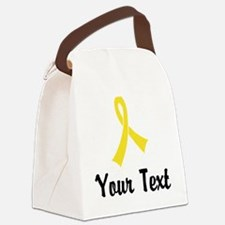 Personalized Yellow Ribbon Awaren Canvas Lunch Bag