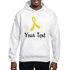 Personalized Yellow Ribbon Aware Hoodie