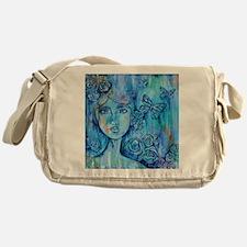 Blue Mist Lady Messenger Bag