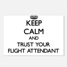 Keep Calm and Trust Your Flight Attendant Postcard