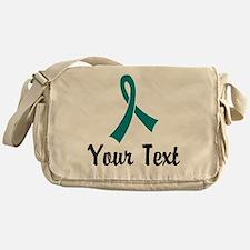 Personalized Teal Ribbon Awareness Messenger Bag
