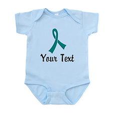 Personalized Teal Ribbon Awareness Infant Bodysuit