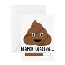 Diaper Loading Greeting Cards