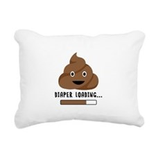 Diaper Loading Rectangular Canvas Pillow
