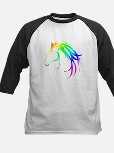 Rainbow Multicolored Horse Head Logo Baseball Jers