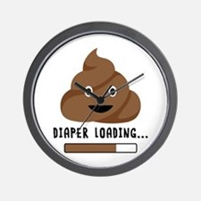 Diaper Loading Wall Clock