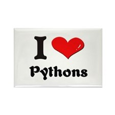 I love pythons Rectangle Magnet