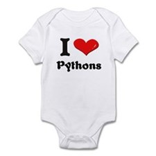 I love pythons  Infant Bodysuit