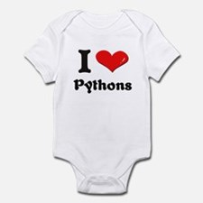 I love pythons  Infant Bodysuit