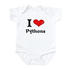 I love pythons  Onesie
