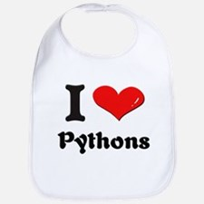 I love pythons  Bib