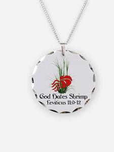 God Also Hates Shrimp Necklace