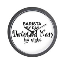 Barista Devoted Mom by Night Wall Clock