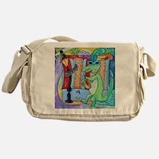 Mardi Gras Jazz Gator Messenger Bag
