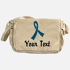 Personalized Blue Ribbon Awareness Messenger Bag