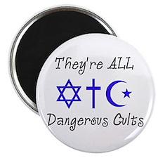 """Dangerous Cults 2.25"""" Magnet (10 pack)"""